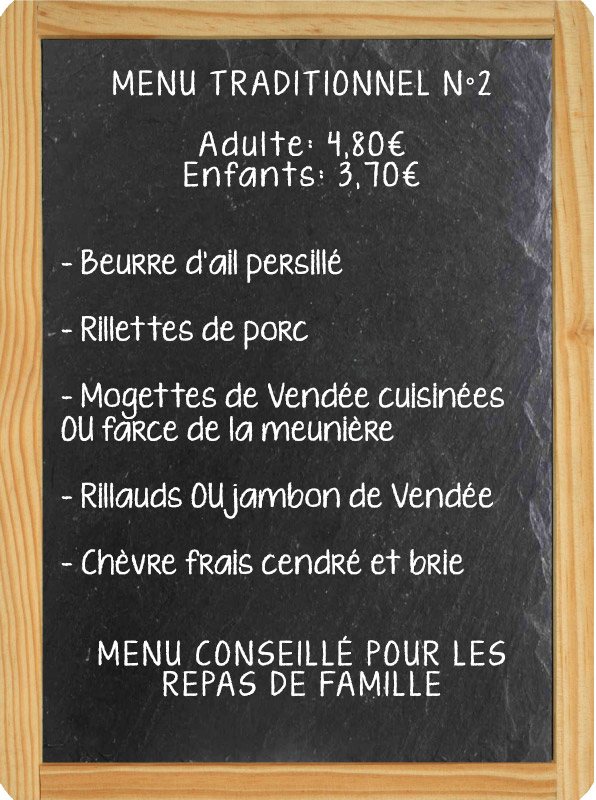 Menu traditionnel fouées à domicile
